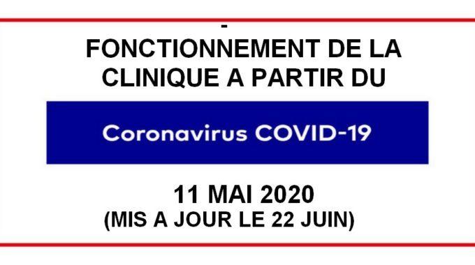 Reprise D'activité Normale à Partir Du 11 MAI Adaptée Aux Exigences Sanitaires (incluant Vaccins Et Stérilisations) :